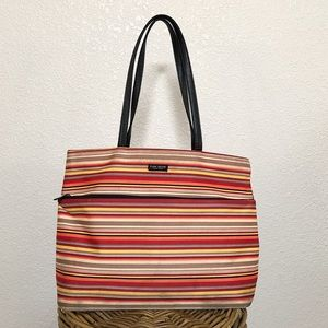 KATE SPADE Multi-Colored Striped Tote
